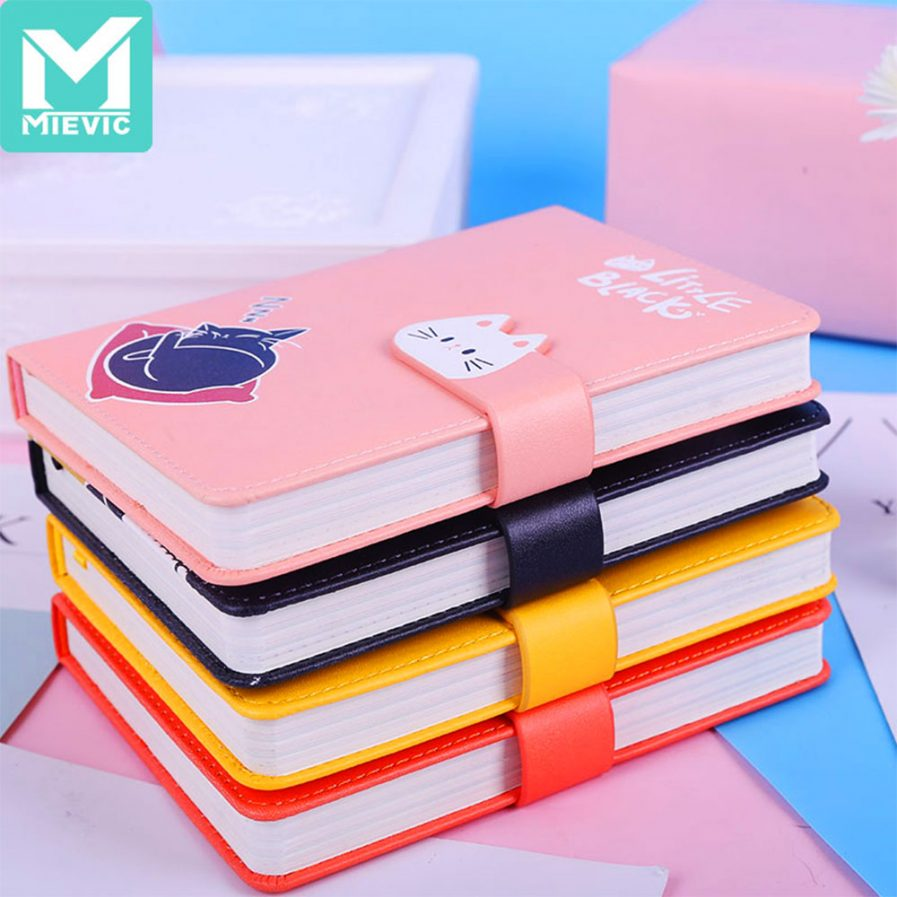 Cat Leather Notebook With Magnetic Buckle 2