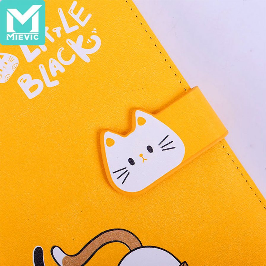 Cat Leather Notebook With Magnetic Buckle 3