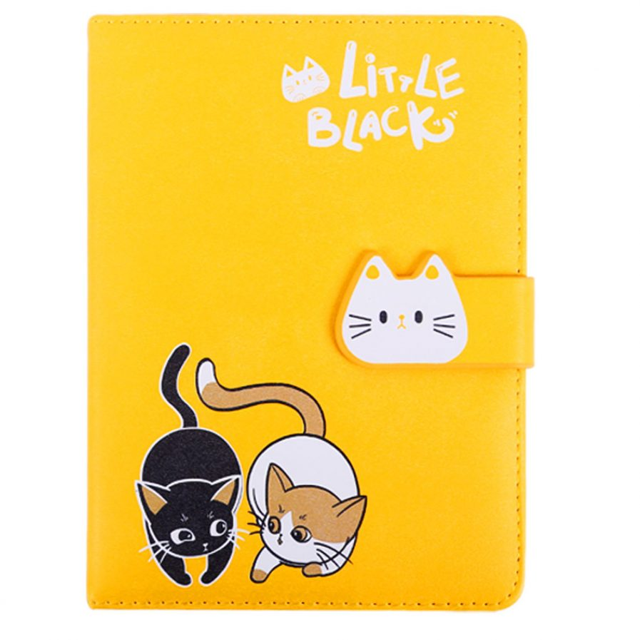 Cat Leather Notebook With Magnetic Buckle 5