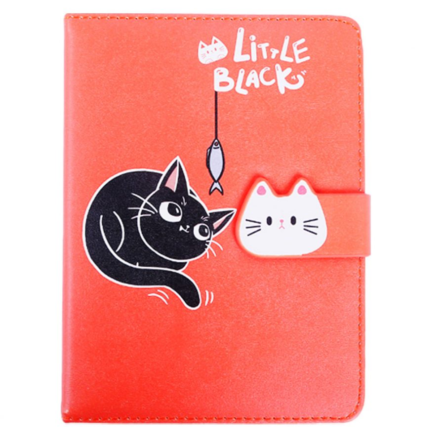 Cat Leather Notebook With Magnetic Buckle 6