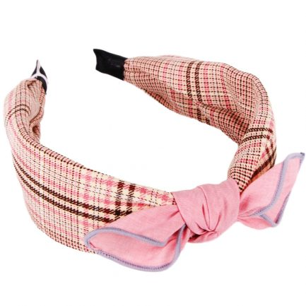 Simple Plaid Headband 1